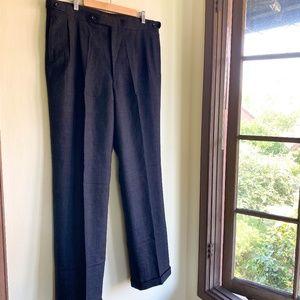 BURBERRY Vintage Pleated Dress Pant Wool 36/32